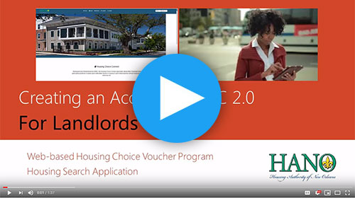 HANO Housing Choice Connect: Landlord Sign Up