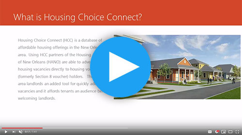 HANO Housing Choice Connect: Welcome Landlords